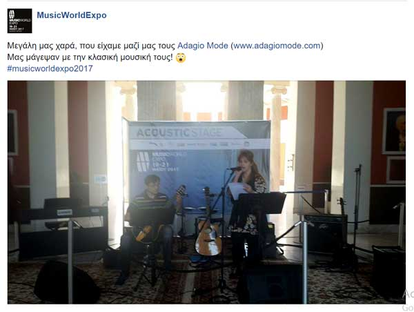 Adagio Mode - Music World Expo 2017