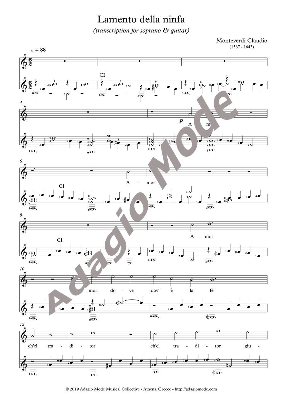 Monteverdi Claudio - Lamento della ninfa