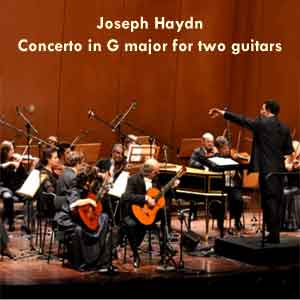 Orchestral - Haydn Joseph - Evangelos & Liza - Concerto in G major for two guitars